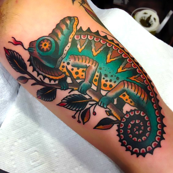 Cool Chameleon Tattoo Idea