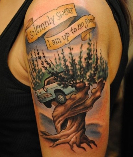 Whomping Willow Tattoo Idea