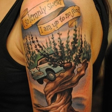 Whomping Willow Tattoo