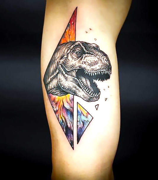 Cool Dinosaur Tattoo Idea