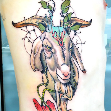 Cool Goat Tattoo