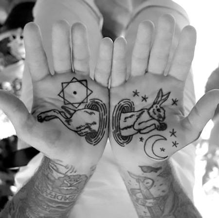 Crazy Rabbit Tattoo Idea