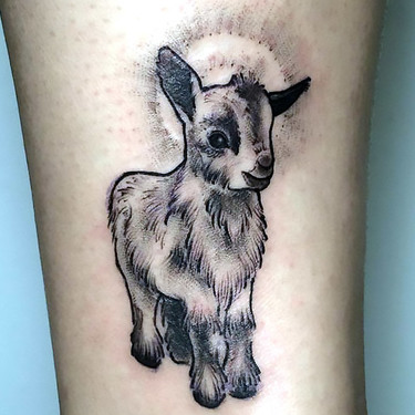 Cute Goat Tattoo