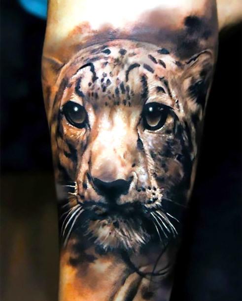 Cute Jaguar Tattoo Idea