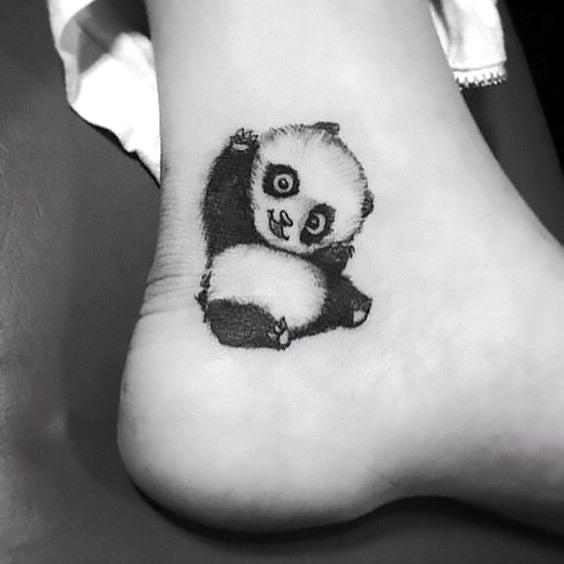 Cute Little Panda Tattoo Idea