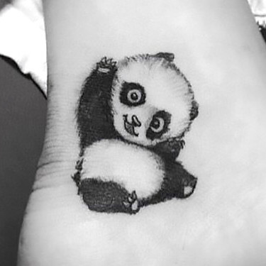 Cute Little Panda Tattoo