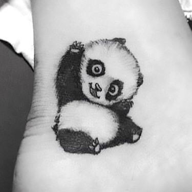 Cute Little Panda Tattoo