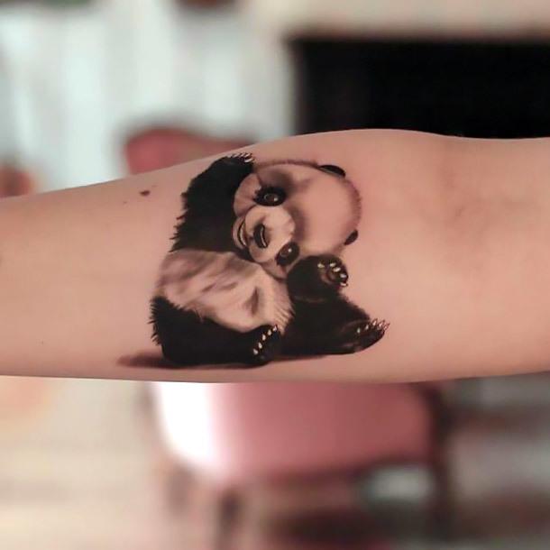 Cute Panda Tattoo Idea