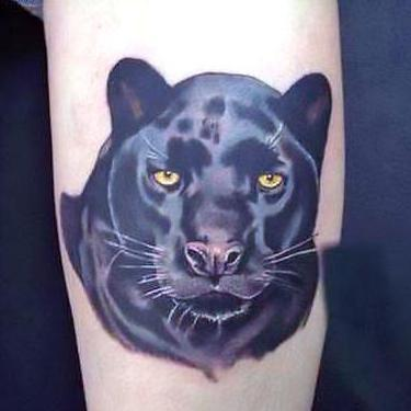Amazing Black Leopard Tattoo