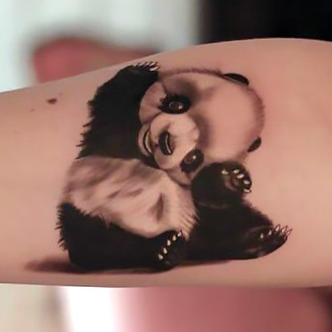 Cute Panda Tattoo