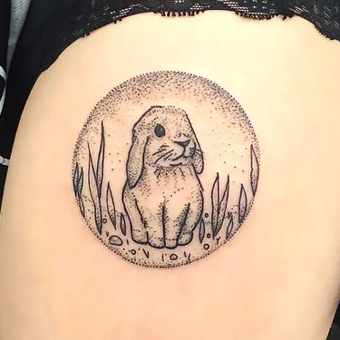 Cute Rabbit Tattoo for Girls Tattoo