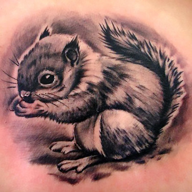 Cute Squirrel Tattoo