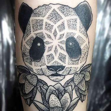 Dotwork Panda Tattoo