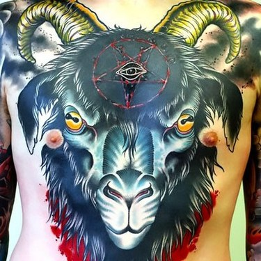 Famous Goat Tattoo