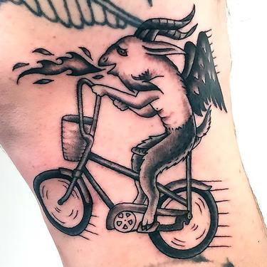 Funny Goat Tattoo