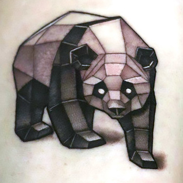 Geometric Panda Tattoo