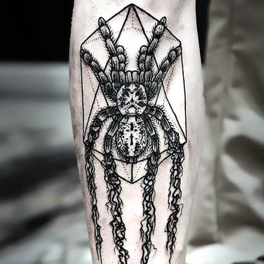 Geometric Tarantula Tattoo