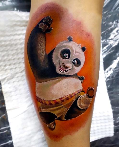 Kung Fu Panda Tattoo Idea
