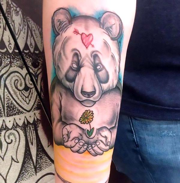 Love Panda Tattoo Idea