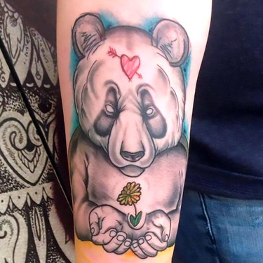 Love Panda Tattoo