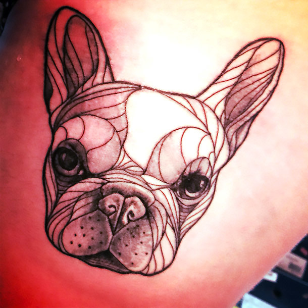 Original Bulldog Tattoo Idea