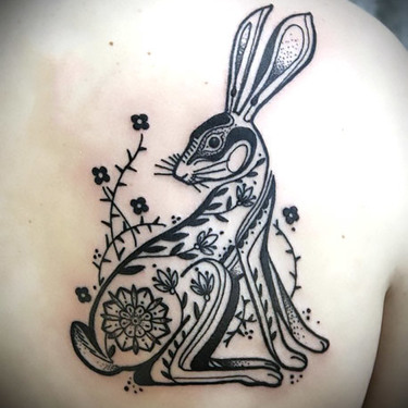 Ornate Rabbit Tattoo