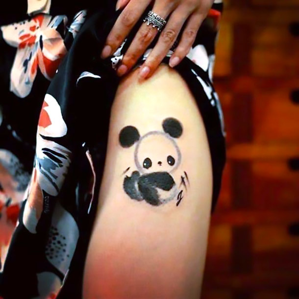 Panda Baby Tattoo Idea