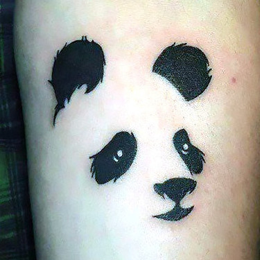 Panda Face Outline Tattoo