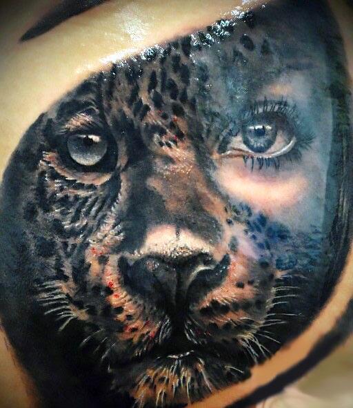 Amazing Cheetah Tattoo Idea