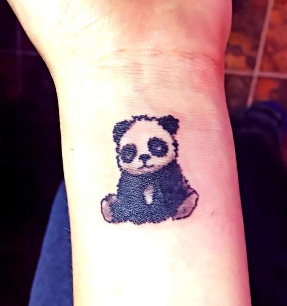 Panda Tattoo on Wrist Tattoo Idea
