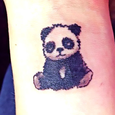 Panda Tattoo on Wrist Tattoo
