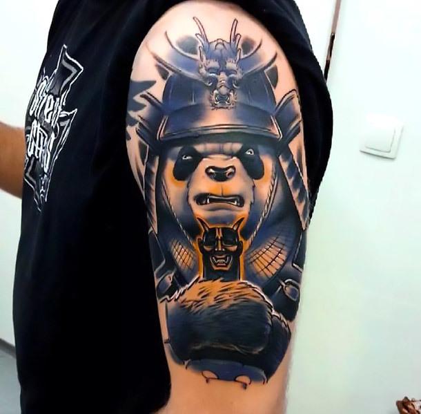 Panda Warrior Tattoo Idea