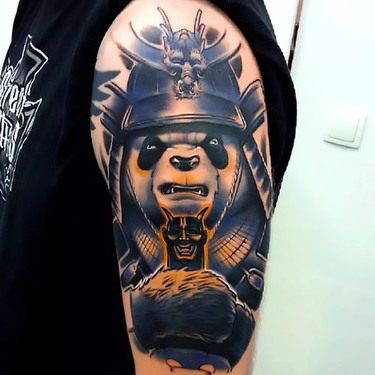 Panda Warrior Tattoo