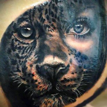 Amazing Cheetah Tattoo