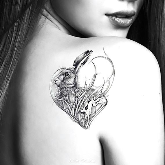 Rabbit Heart Tattoo Idea