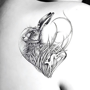 Rabbit Heart Tattoo