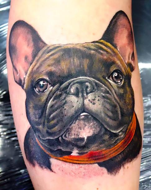 Realistic Bulldog Tattoo Idea