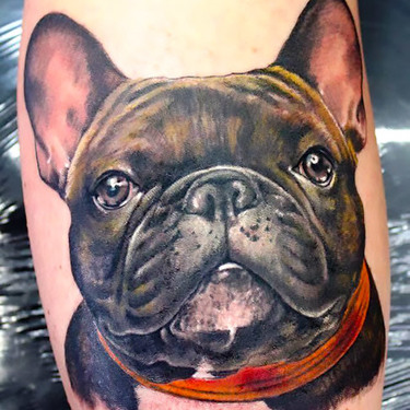 Realistic Bulldog Tattoo