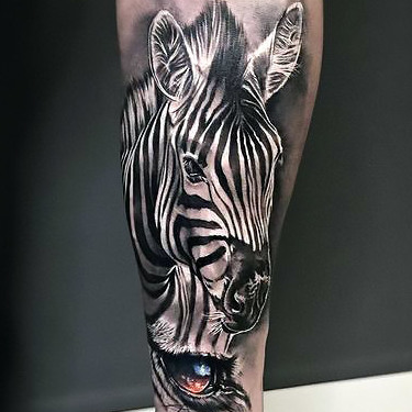 Amazing Zebra Tattoo