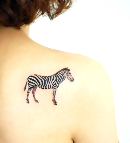 Simple Zebra Tattoo Idea