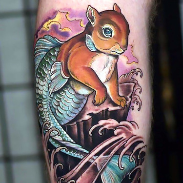Squirrel Fish Tattoo