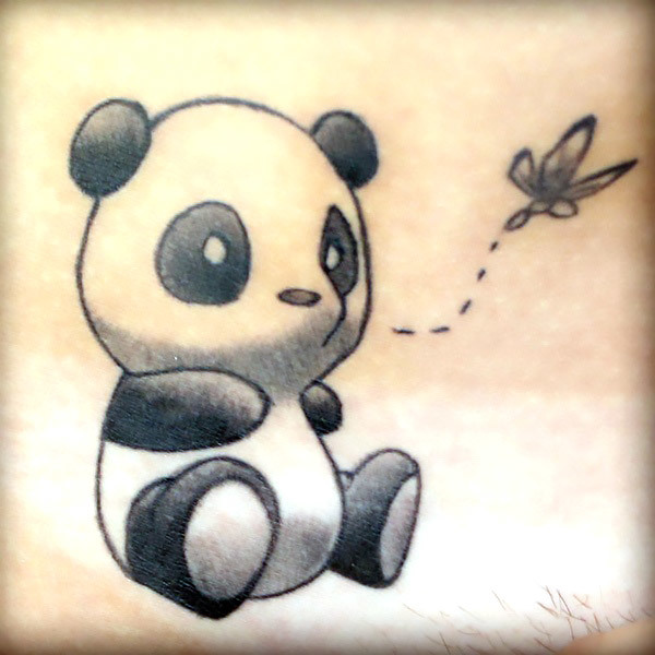 Sweet Panda Tattoo Idea