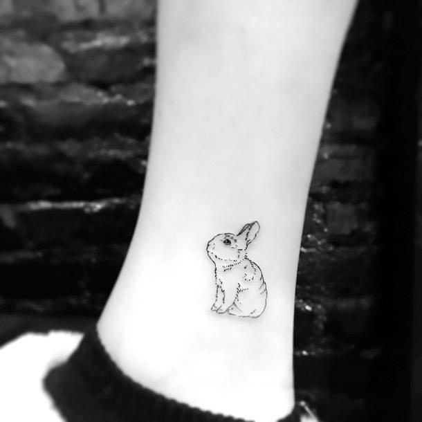 Tiny Rabbit Tattoo Idea