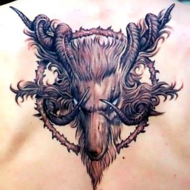 Unique Goat Tattoo