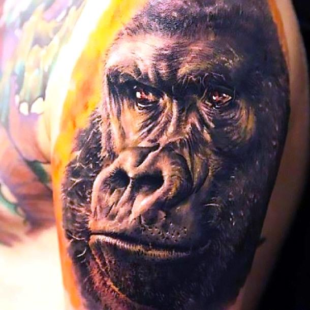 3D Gorilla Tattoo Tattoo Idea