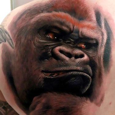 Amazing Gorilla Tattoo