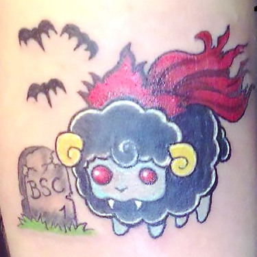 Funny Cute Sheep Tattoo