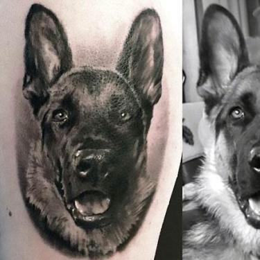 Amazing Dog Portrait Tattoo