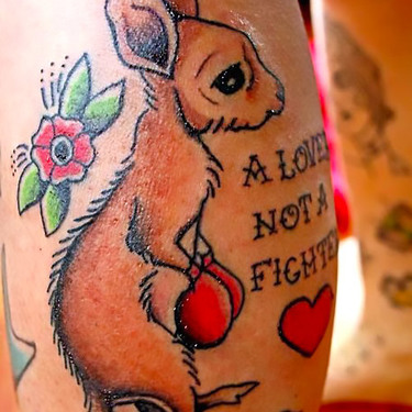 A lover not a fighter Tattoo