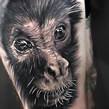 Little Gorilla Tattoo